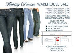 Jeans Warehouse Sale
