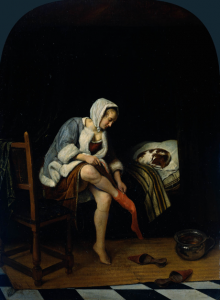 Jan Steen, Woman at her toilet, c. 1659-60, oil on panel