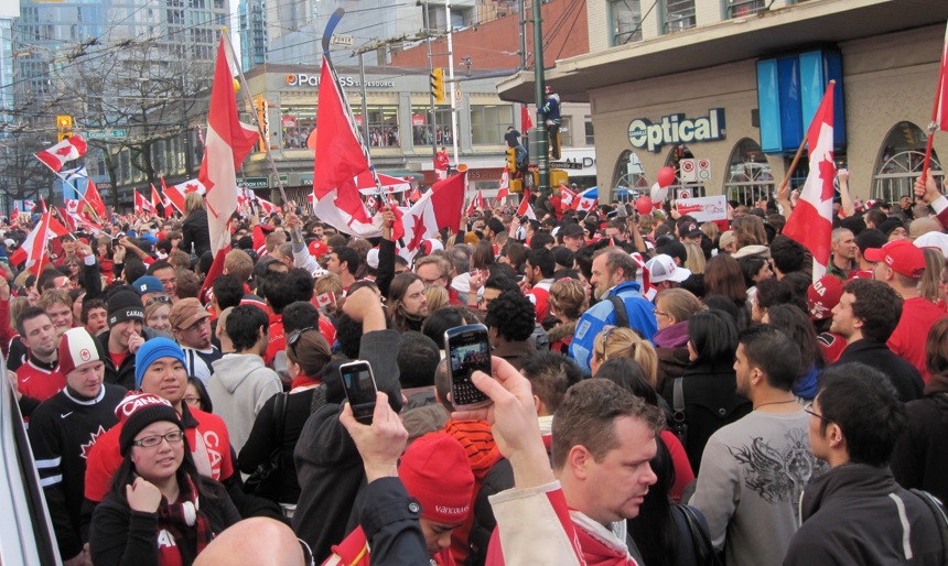 Robson and Granville after Canada Wins Gold in Men's Hockey
