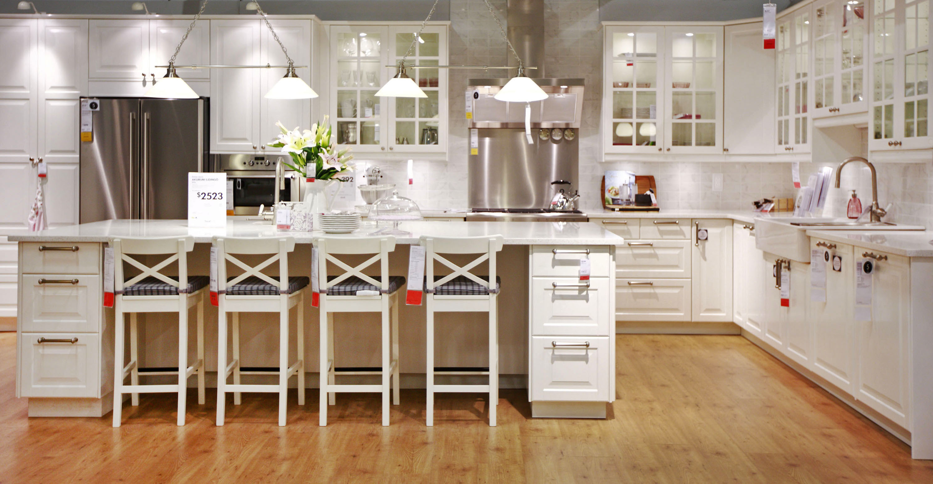 Lidingokitchen 3000×1558  Cucine  Pinterest  Kitchen Custom Ikea Glass Dining Room Table Decorating Design