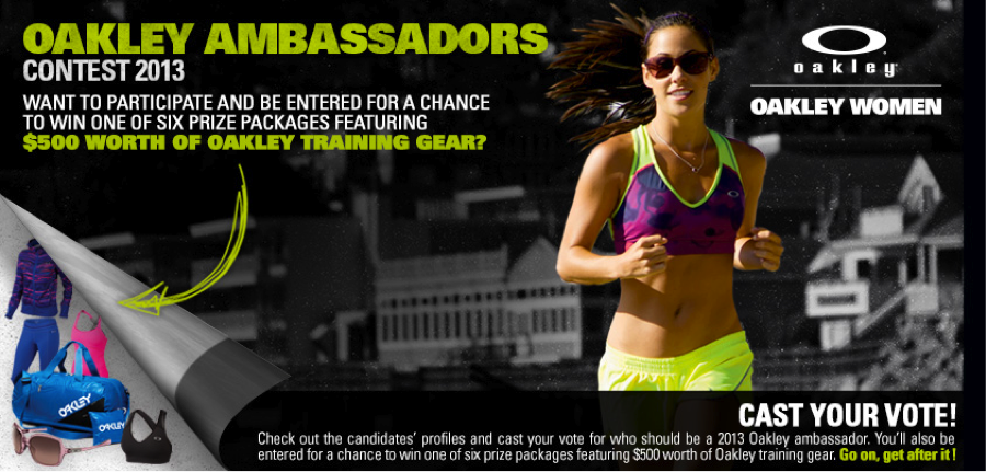 Vote for the Next 2013 Oakley Ambassador