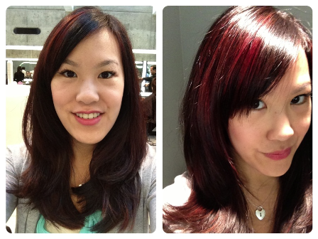 The final result: Highlights, Hair Cut & Style