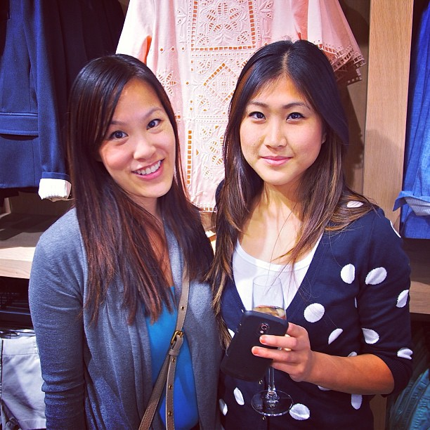 At the media preview of the new J Crew at Pacific Centre. Photo courtesy of @RickChung.