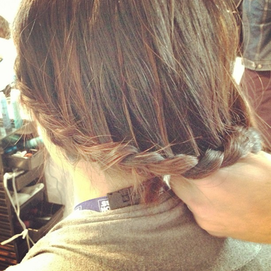 Thank you to Alain Larivée of John Frieda for this braided hairdo at the London Drugs beauty event.
