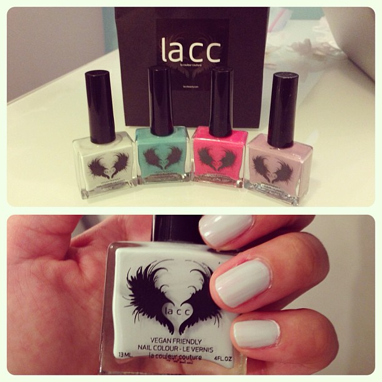 Testing out Vancouver-based LA CC vegan nail lacquers.