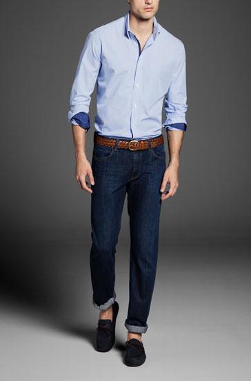 Massimo Dutti Slim Fit Micro Shirt ($79.50)