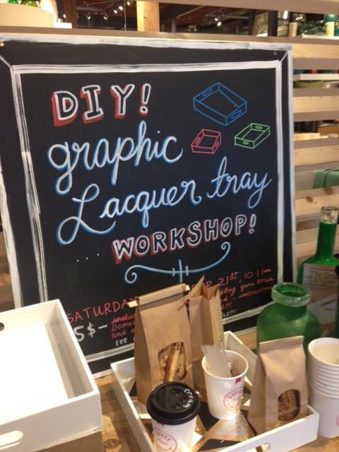 West Elm Graphic Lacquer Tray Workshop