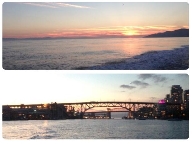 english bay sunset view