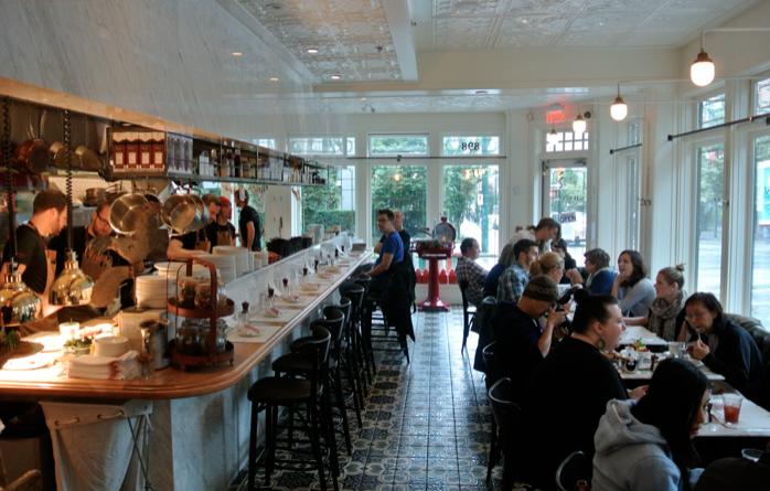 homer street cafe interior