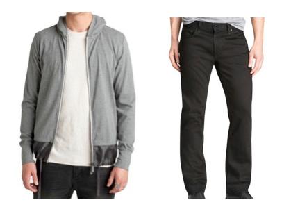 The Top: Zanderobe, J-Hood Hoodie / The Bottom: J Brand, Slim Straight Jeans