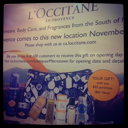 L'Occcitane Opening Soon at Metropolis at Metrotown