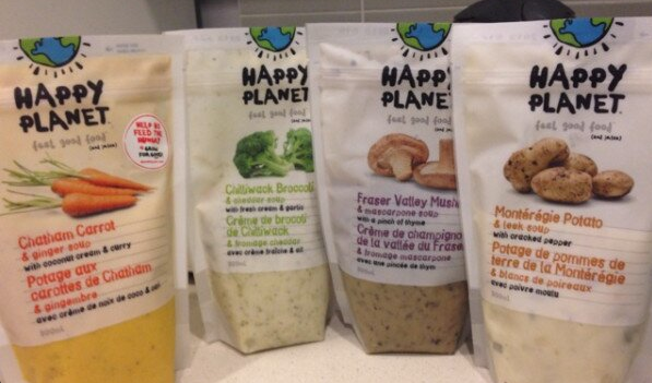 New Locally-Inspired Flavours of  Happy Planet Soups for Fall 2013