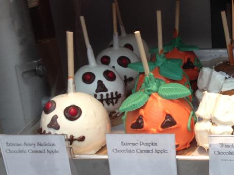 Halloween Themed Caramel Apples