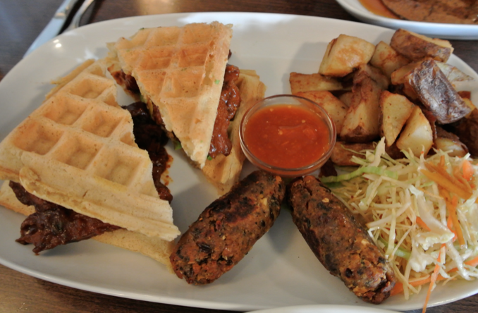 Graze Vegan Waffle Sandwich ($15)