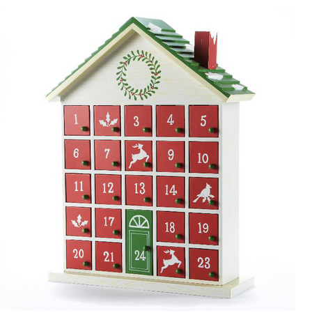 Wooden House Advent Calendar ($50) from Sears