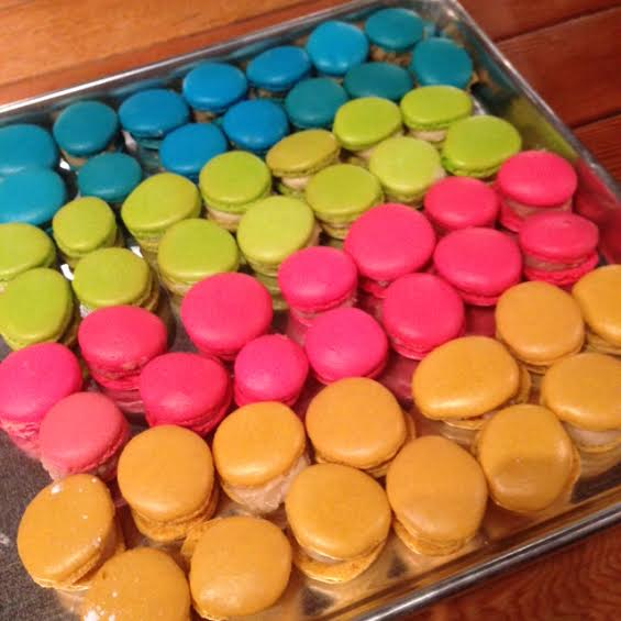 vancouver macaron making class finished