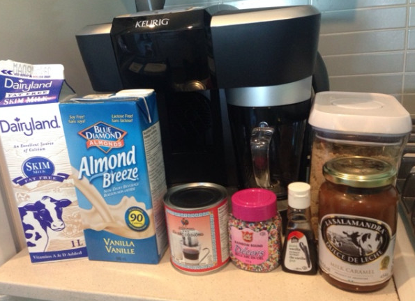 A selection of toppings and ingredients I plan on incorporating in the Keurig Rivo Challenge.