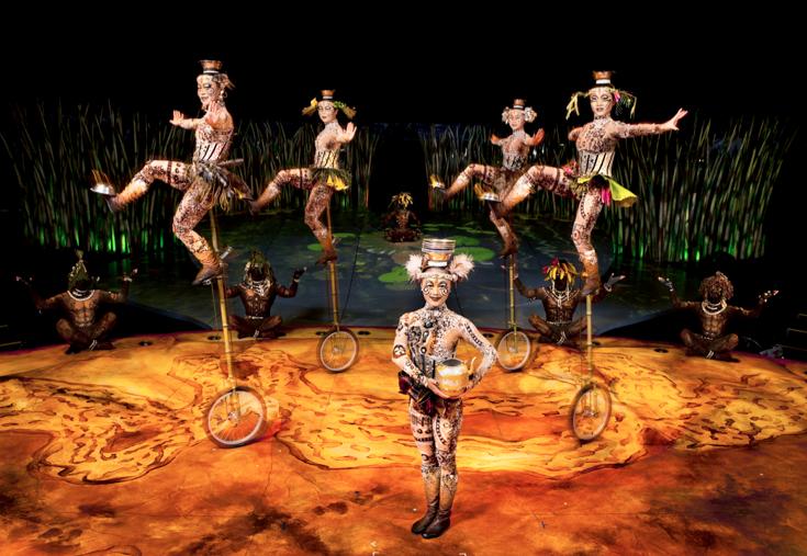 cirque du soleil totem unicycles