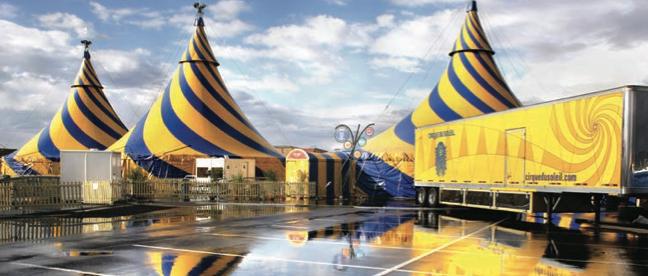 cirque du soleil village on wheels