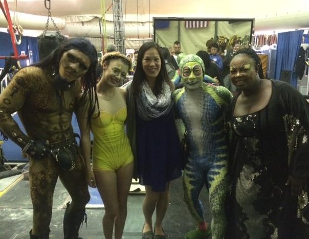 cirque totem behind the scenes cast