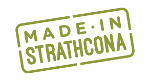 made in strathcona label