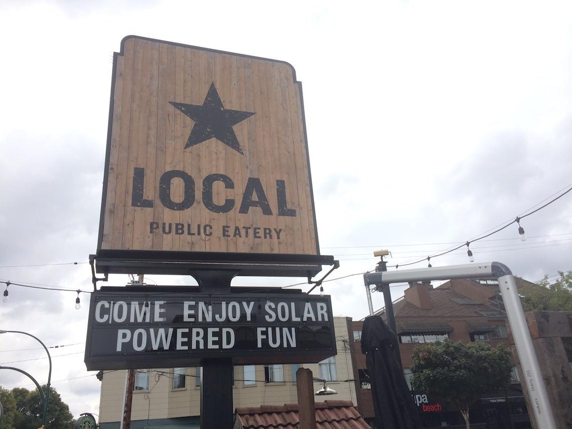 The Local Kitsilano Signage