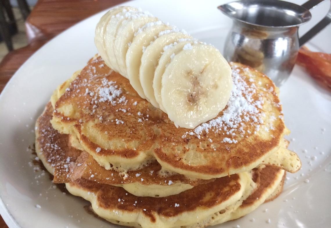the local kitsilano brunch banana pancakes