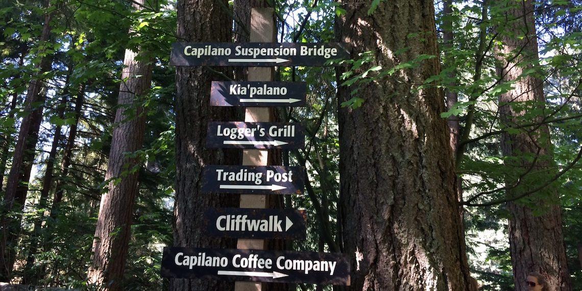 capilano suspension bridge park direction