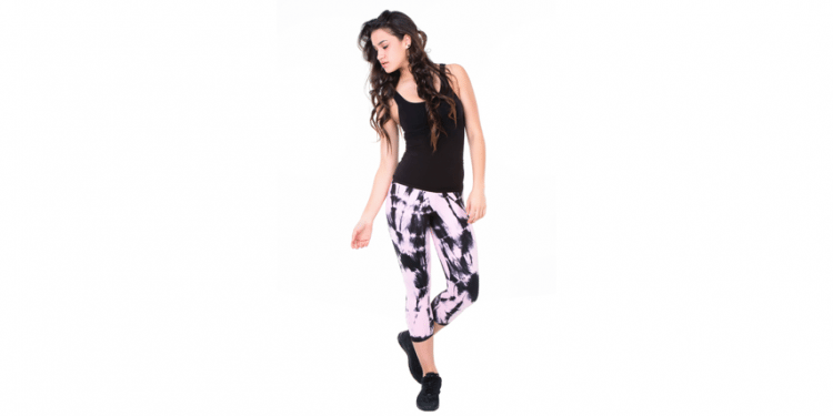 DAUB + DESIGN Special Edition Pink & Black Hand-Dyed Leggings