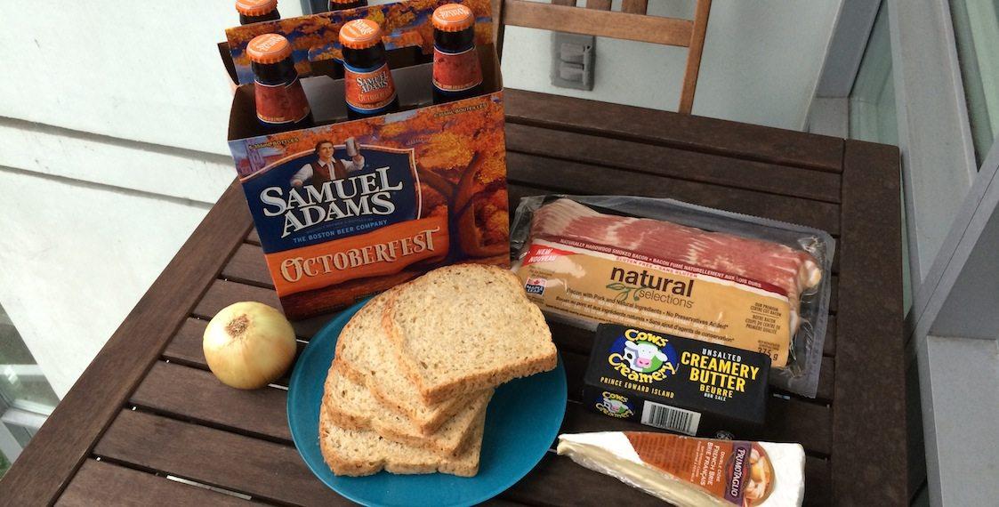 Samuel Adams Beer Grilled Cheese Ingredients