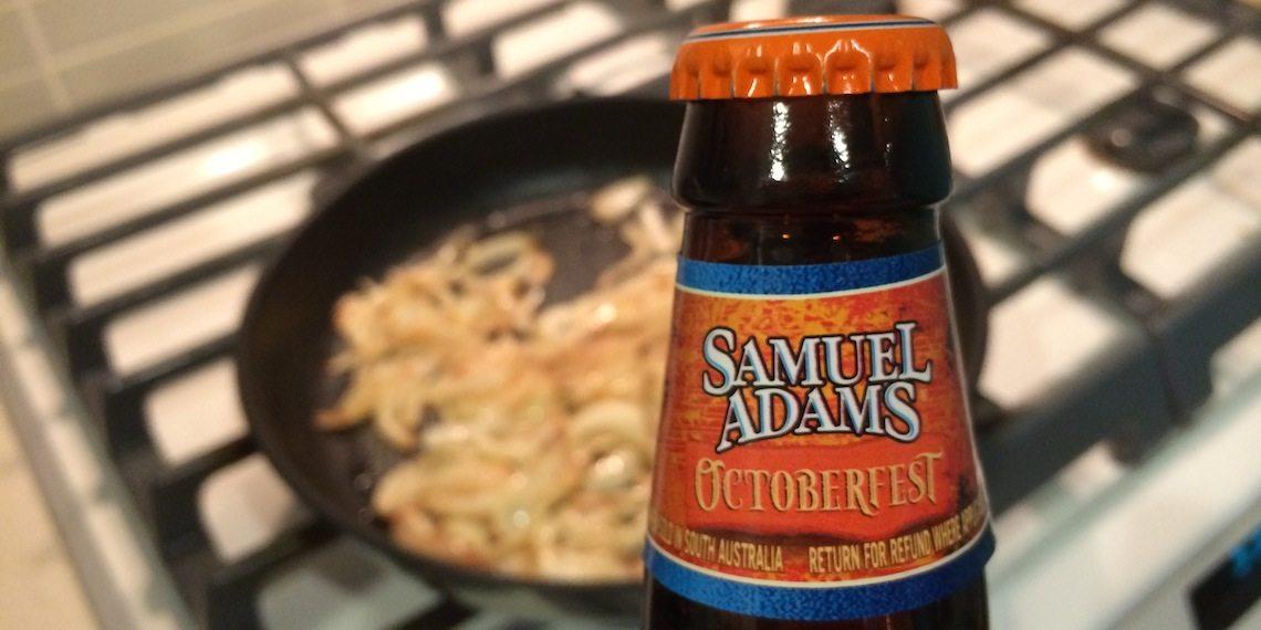 Samuel Adams Beer and Onion