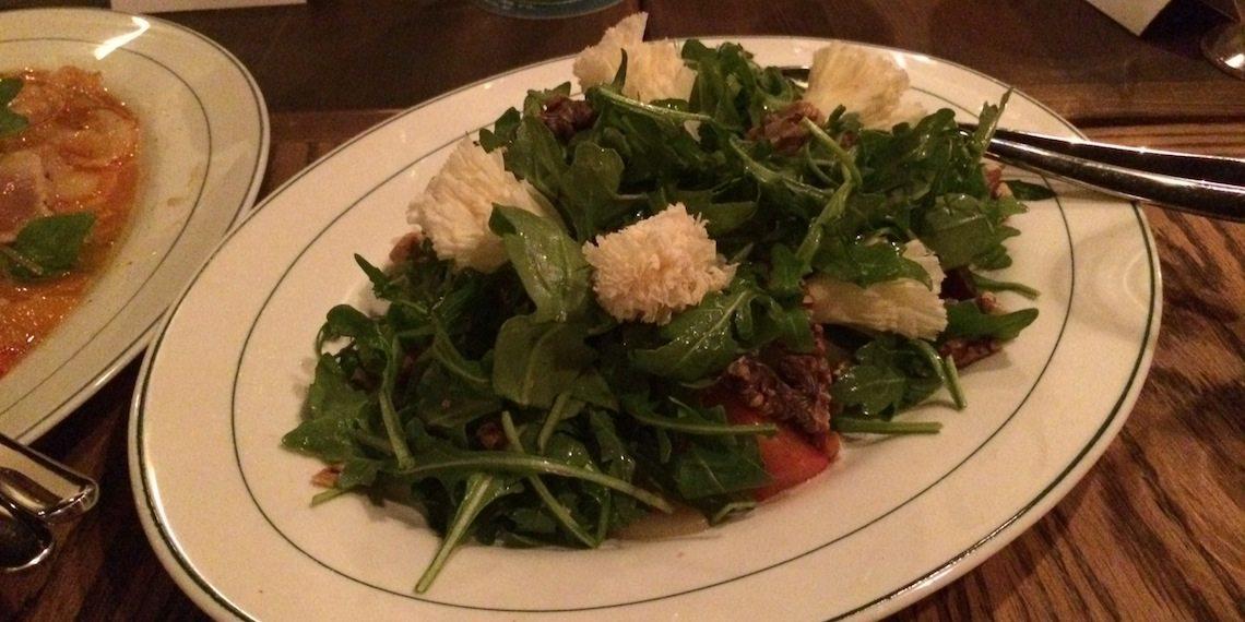 The Abbey Beet ,Pear, Walnut, Tete de Moine Salad