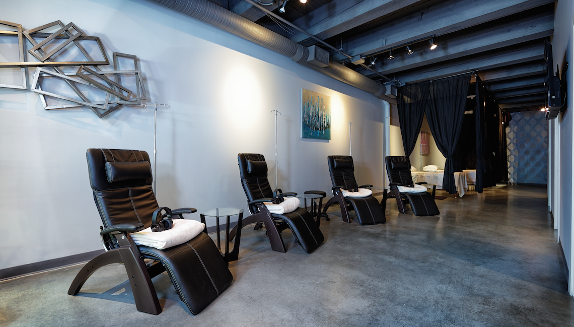The IV Wellness in Yaletown Massage Chairs