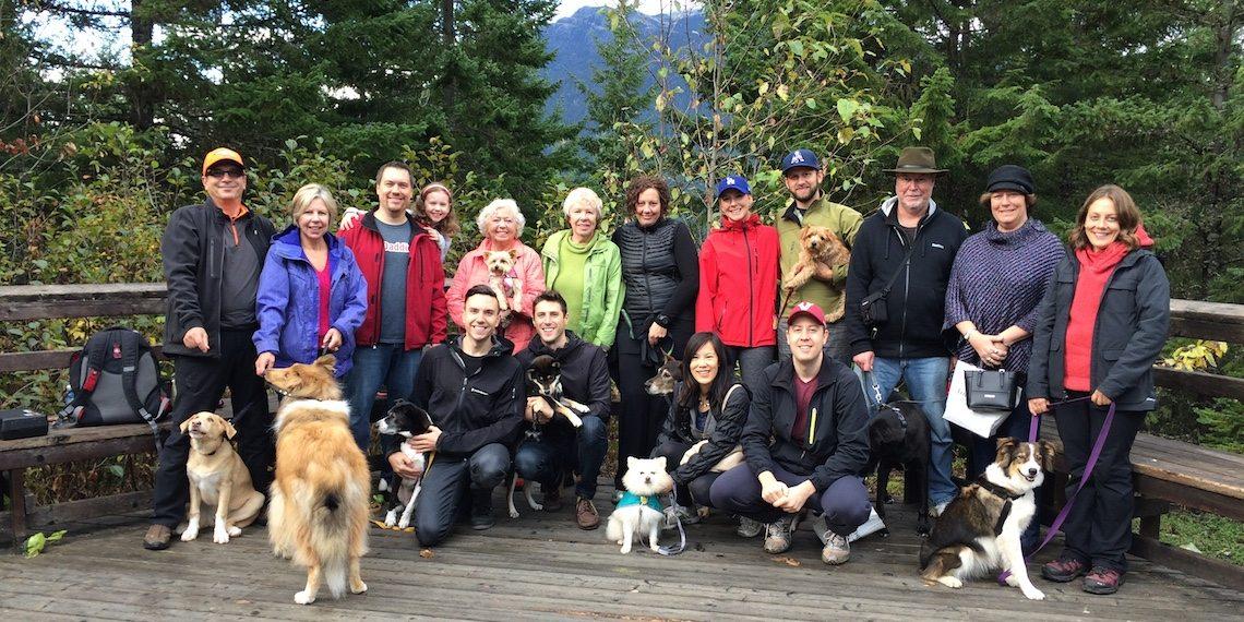 alpine dogs hike woof weekend