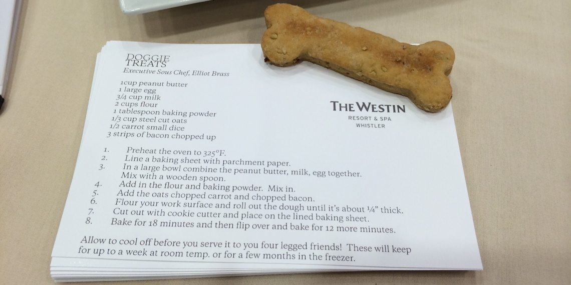 Gourmet Dog Biscuit Recipe from The Westin's Executive Sous Chef Elliot Brass.
