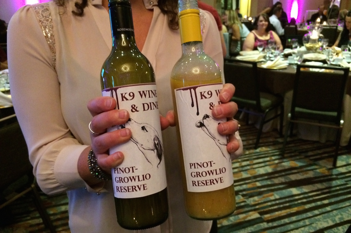 k9 dinner wag fundraiser wine