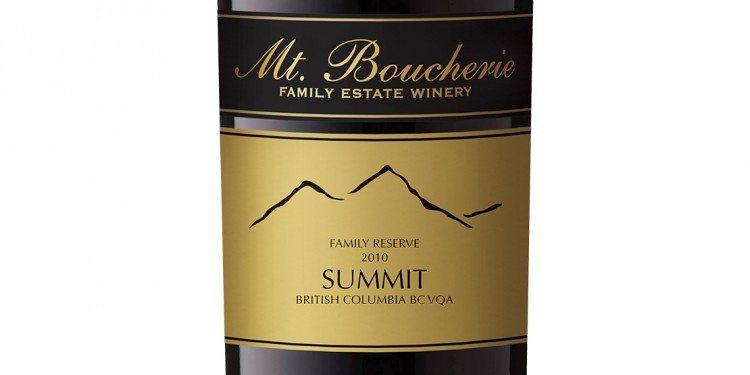 Mt. Boucherie Winery- 2010 Summit Reserve ($28.00)