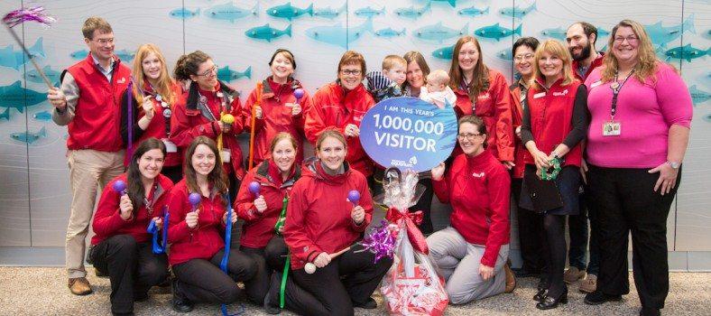 Edina Bartell - Vancouver Aquarium's one millionth visitor of 2014