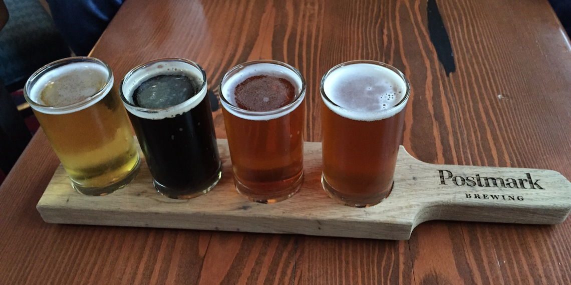 postmark beer flight paddle