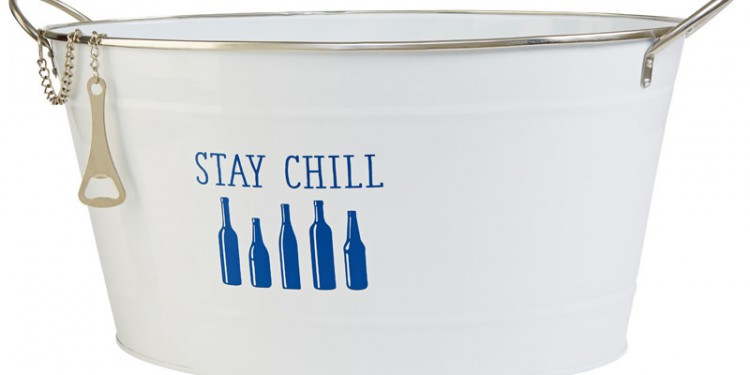 """Stay Chill"" Metal Beverage Bucket"