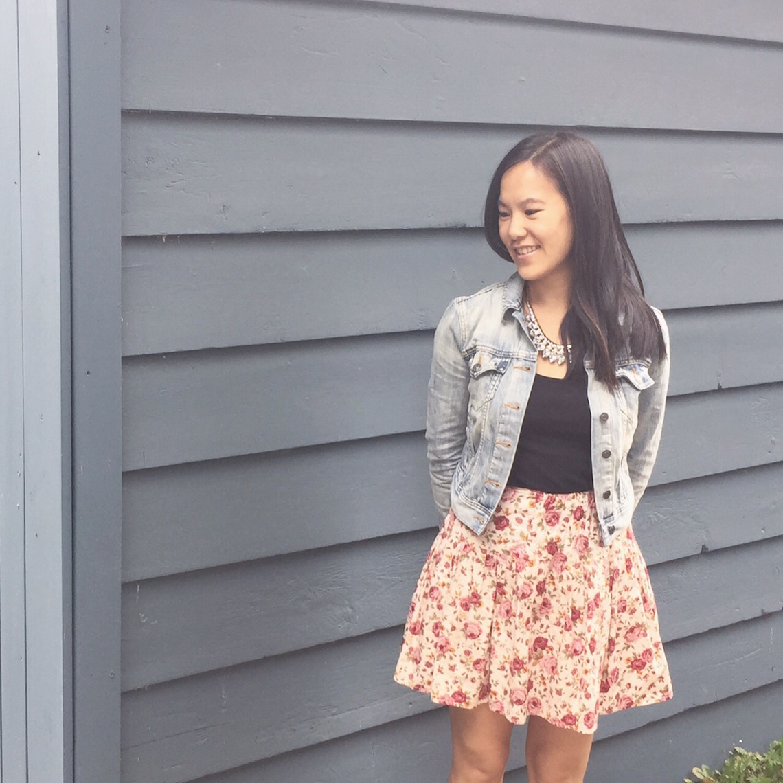 OOTD demin and floral 1