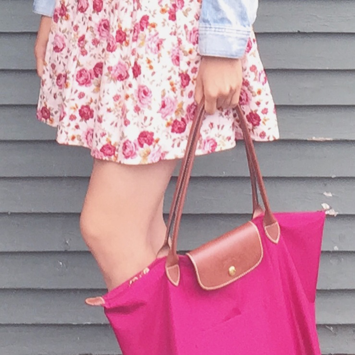 OOTD demin and floral 2