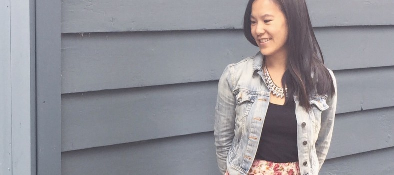 OOTD demin and floral cropped