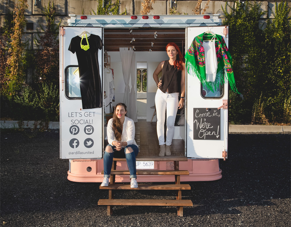 Owners Karolina and Kora Ardillas United Mobile Shopping Boutique