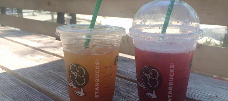 At Starbucks previewing their new Teavana Sparkling Tea Juice Beverages.