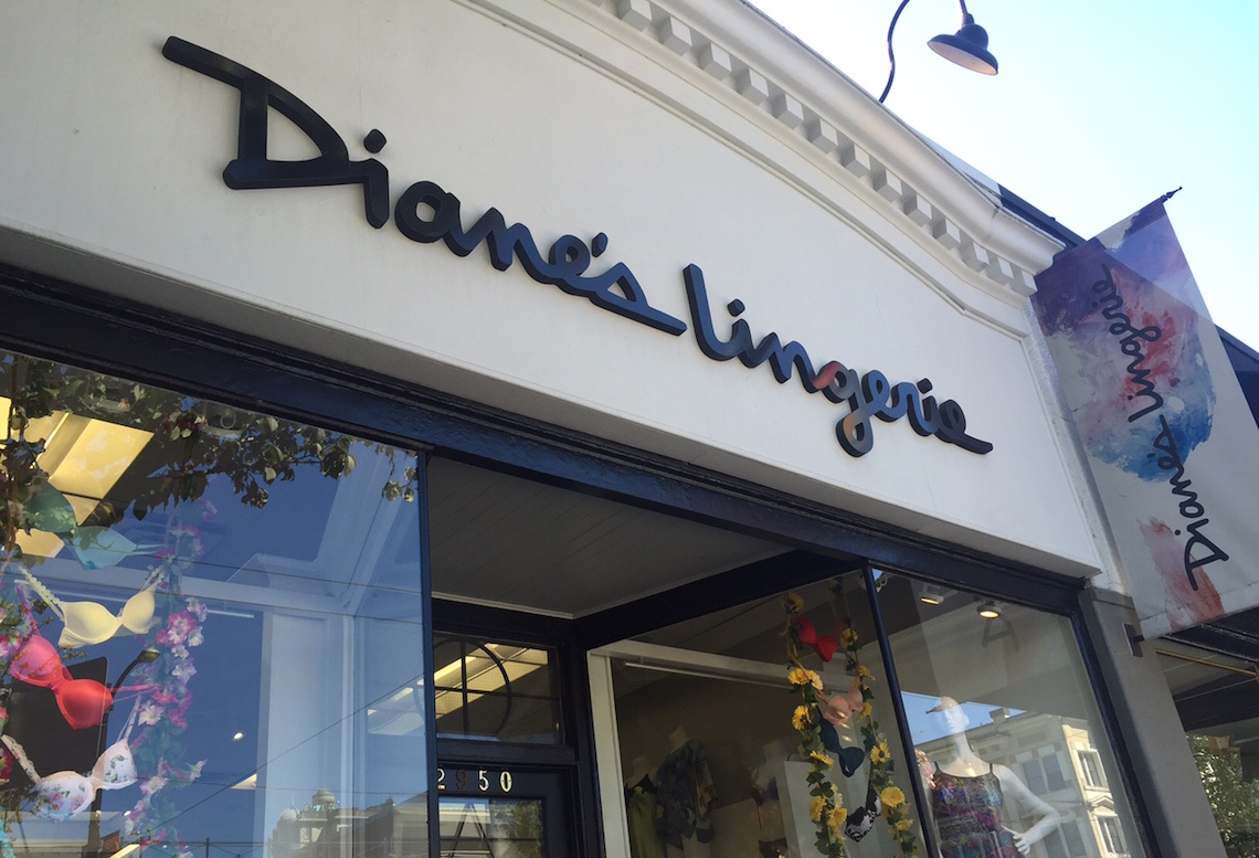 Diane's Lingerie Storefront on South Granville