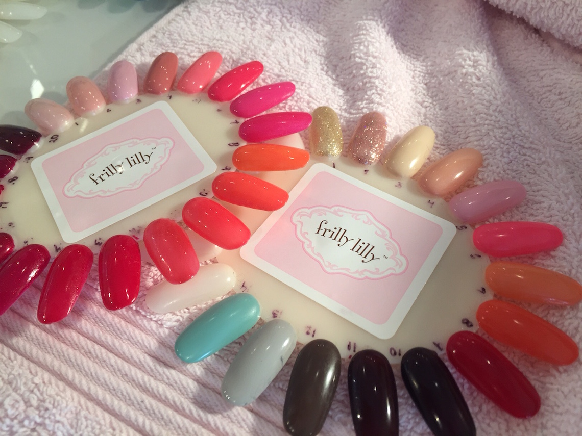frilly lilly nail colours