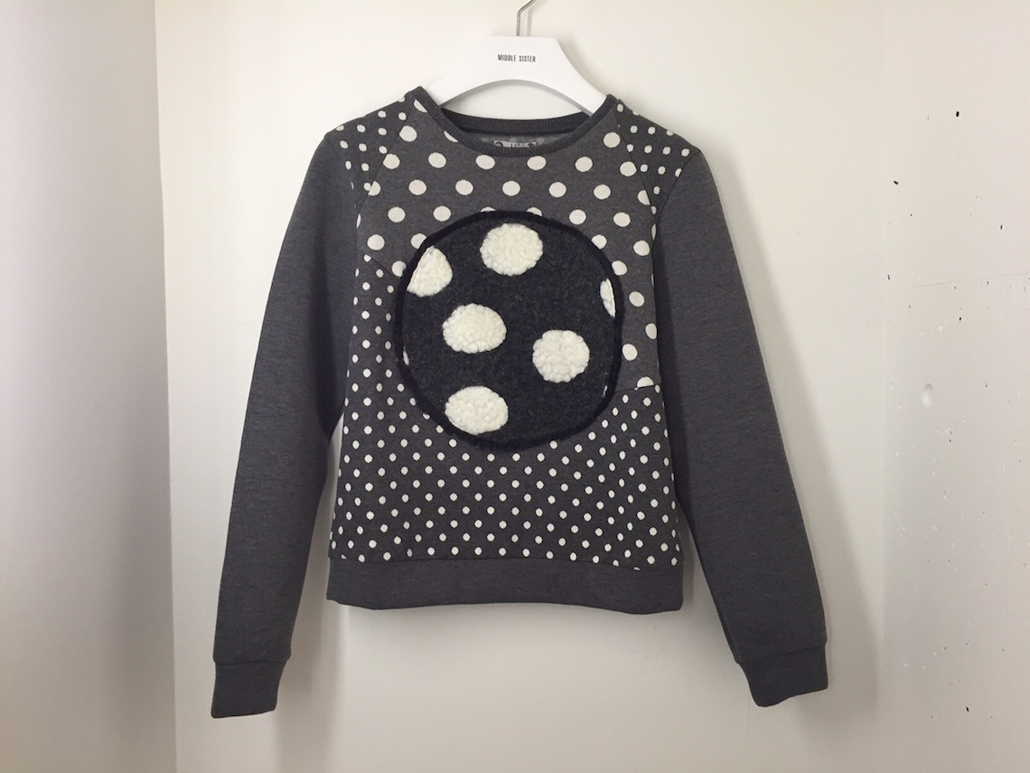 LIE Grey Sweater with Dots ($199.99)