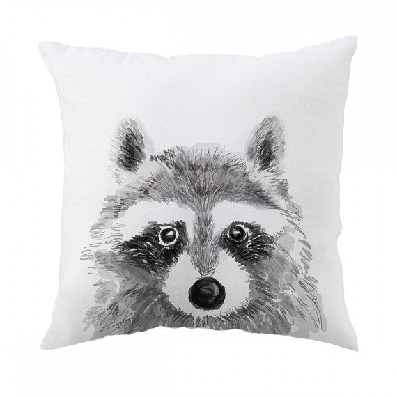 triple studio vancouver racoon pillow