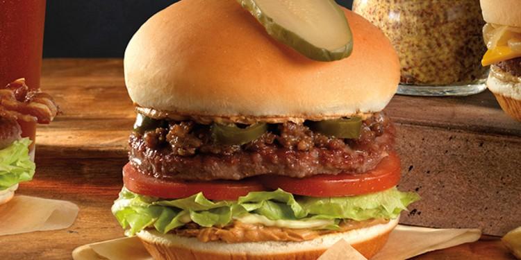 white spot peanut butter bacon burger